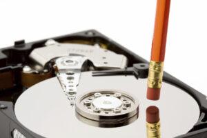 open hard disk drive studio isolated