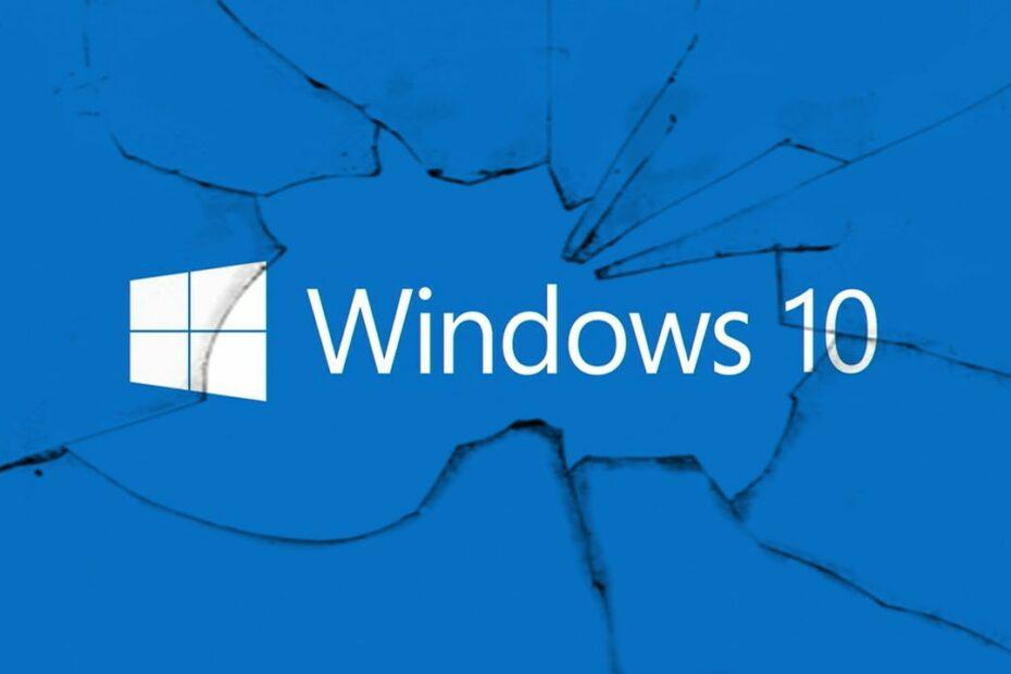 broken windows 10 illustration