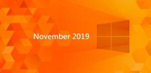 WIndows 10 November 2019
